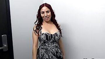 Sexy Latina Milf Claudia On The Stairs
