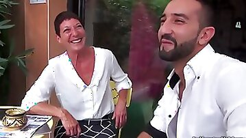 Marielle French Cougar Fornicateed By Youngster