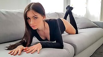 Stunning doll with dark hairs Sasha Rose screwed in the missionary pose