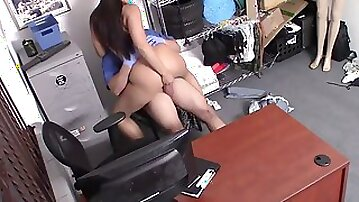 Shoplyfter - ebony bubble booty teen (Adriana Maya) lets security nail her humid