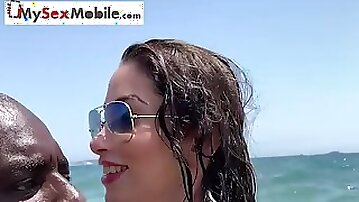 Clea Gaultier fucked by a BBC in Ibiza - MySexMobile