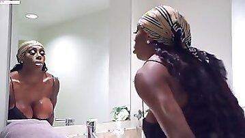Ebony TS queen with Ebony princess