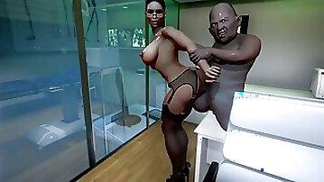 3D MISTRESS USES LEECH TO MAKE YOU EJACULANT AGAIN TWICE