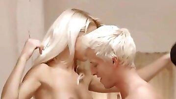 Unbelievable Sweden blonds threesome