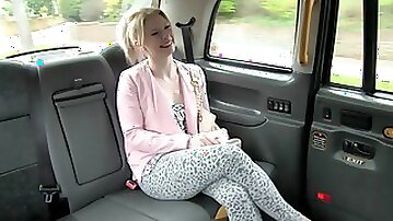 Blonde Rammed Hard By Taxi Driver