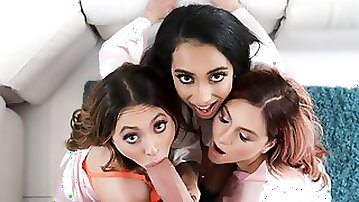 Bride and bridesmaids in foursome
