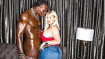 White girl Julie Cash cheats on her boyfriend with a big black dick