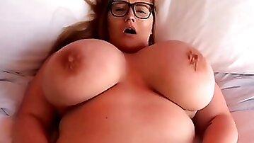 Monster tits compilation: threesome, cum on tits, POV hardcore