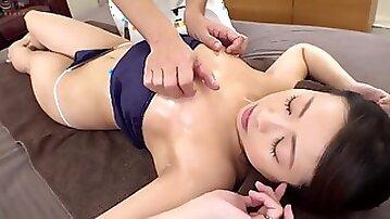Japanese Milf Nipple Massage Orgasm Not Stopping - bbw