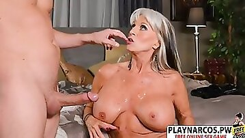 Cougar mommy sally d angello wants to nail hard young step-son