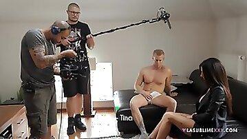 Another behind the scenes video with sexy pornstar Priscilla Salerno