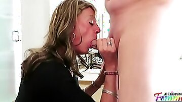 Christian Playing with Mature Sissy Crossdresser Jeanne