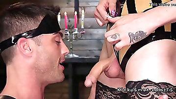 Tall she-creature mistress anal drills fellow
