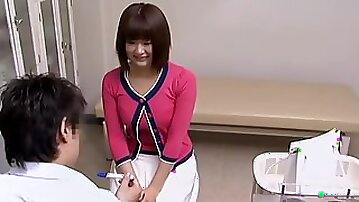 Japanese teen screamed in passion as her gyno fucked her