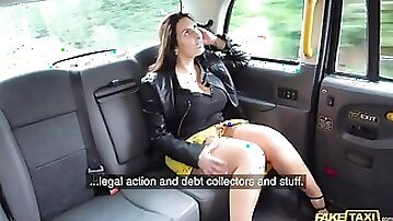 Big-boobed hottie Josephine James pays for the ride in a dirty way