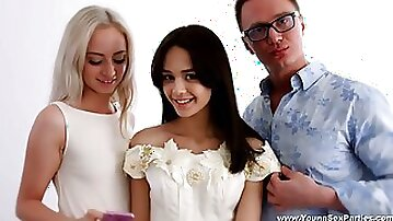 Future bride ends up having sex with her hair stylist and her friend