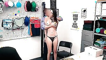 Shoplifters are strip-searched, groped and fucked by a kinky security officers